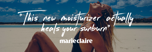 This new moisturizer actually heals your sunburn Marie Claire on Chuda