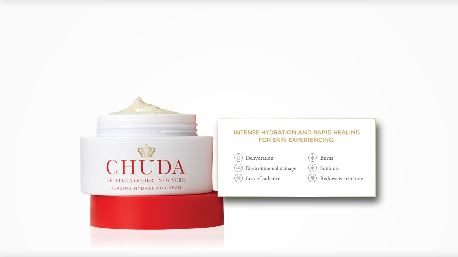 Chuda Healing Hydrating Cream provides intense hydration and rapid healing for skin